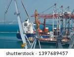 industrial port  infrastructure ... | Shutterstock . vector #1397689457