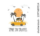 travel by car. road trip. world ... | Shutterstock .eps vector #1397689514