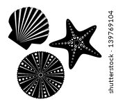 sea life silhouettes set ... | Shutterstock .eps vector #139769104