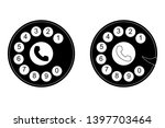 phone dial  dial icon on white... | Shutterstock .eps vector #1397703464