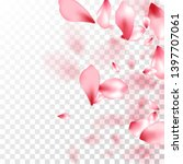 japanese cherry petals on... | Shutterstock .eps vector #1397707061