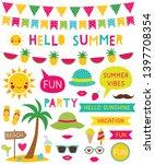 summer beach  vector design... | Shutterstock .eps vector #1397708354