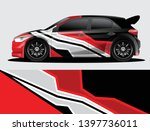 rally car decal graphic wrap...   Shutterstock .eps vector #1397736011