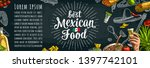 best mexican food handwriting... | Shutterstock .eps vector #1397742101