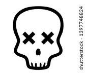 skull logo vector illustration  ... | Shutterstock .eps vector #1397748824