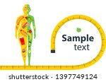weight loss. the influence of... | Shutterstock .eps vector #1397749124