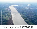 Aerial View Of The Ohio River...