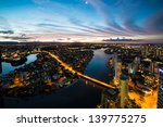 colorful sunset over suburbs ... | Shutterstock . vector #139775275
