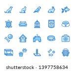 pet shop flat line icons set.... | Shutterstock .eps vector #1397758634