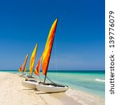 Group Of Colorful Sailing Boat...