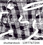 distressed background in black... | Shutterstock . vector #1397767244