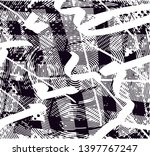 distressed background in black... | Shutterstock . vector #1397767247