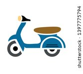 scooter bike vector icon.... | Shutterstock .eps vector #1397775794