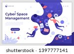 landing page template with man... | Shutterstock .eps vector #1397777141