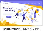 landing page template with... | Shutterstock .eps vector #1397777144