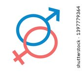 gender sign vector icon. filled ... | Shutterstock .eps vector #1397779364