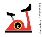 exercise bicycle vector icon.... | Shutterstock .eps vector #1397779871