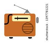 retro radio vector icon. filled ... | Shutterstock .eps vector #1397781221
