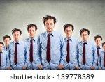 funny sleepy businessmen in... | Shutterstock . vector #139778389