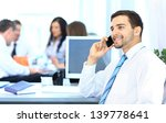 businessman talking on the phone | Shutterstock . vector #139778641