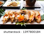 split half of grilled river... | Shutterstock . vector #1397800184
