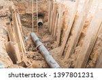 construction site of an... | Shutterstock . vector #1397801231