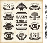 vintage bakery labels set.... | Shutterstock .eps vector #139780489