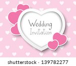 wedding invitation with place...   Shutterstock .eps vector #139782277