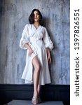 pretty beautiful sexy elegance... | Shutterstock . vector #1397826551