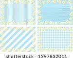 set background of hibiscus... | Shutterstock .eps vector #1397832011
