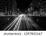 long exposure of cars at night... | Shutterstock . vector #1397832167