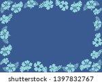 hibiscus flower frame tropical... | Shutterstock .eps vector #1397832767