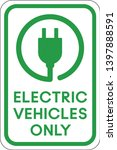 electric vehicle only parking... | Shutterstock .eps vector #1397888591