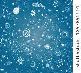 space galaxy constellation... | Shutterstock .eps vector #1397891114