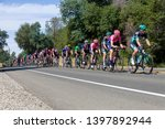 Small photo of Amgen, Tour of California, SACRAMENTO, CA –May 13, 2019: Amgen, Tour of California race is on it's way to South Lake Tahoe, California during stage 2 from Rancor Cordova, California.