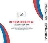 korea independence day vector... | Shutterstock .eps vector #1397932961