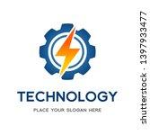 thunder bolt gear cogwheel... | Shutterstock .eps vector #1397933477