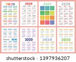 pocket calendar 2020 year set.... | Shutterstock .eps vector #1397936207
