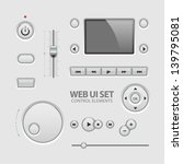 ui elements design light gray....