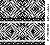 peru ikat tribal pattern vector ... | Shutterstock .eps vector #1397963321