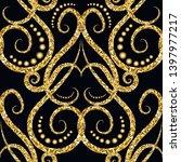 gold glitter vintage ornamental ...   Shutterstock .eps vector #1397977217