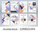 set of annual report brochure...   Shutterstock .eps vector #1398021494