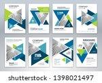 set of annual report brochure...   Shutterstock .eps vector #1398021497