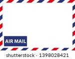 airmail envelope border  ... | Shutterstock .eps vector #1398028421