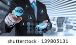 businessman hand showing search ... | Shutterstock . vector #139805131