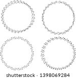 set handdrawn wreath icon on...
