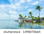 Key Largo (Florida, USA). Beautiful landscape. Desktop background. Sea & palmtrees.