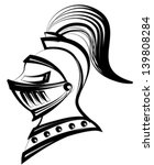Medieval Helmet Black Line