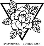 rose tattoo with sacred... | Shutterstock .eps vector #1398084254