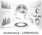 virtual assistant hud user...   Shutterstock .eps vector #1398090101